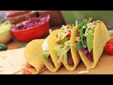 Vegetarian Tacos & Nachos { Red kidney beans or Adzuki beans} Taste just like meat!