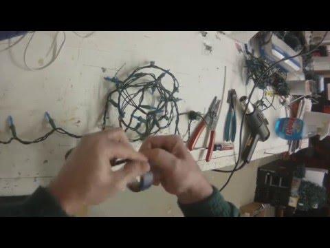 Cutting LED Christmas Lights Strings
