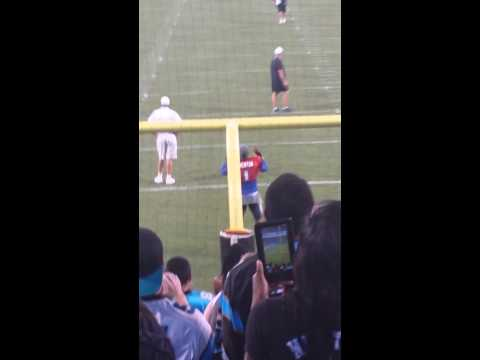 Cam Newton gets the wave going