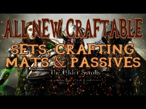 Elder Scrolls Online Imperial City | All New Craftable Sets, Mats & Passives Explained | HD