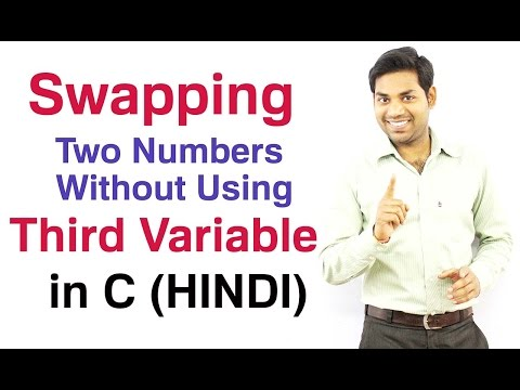 Swapping Two Numbers Without Using Third Variable in C (HINDI)
