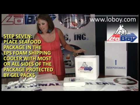 How To Pack And Ship Fresh Seafood For Overnight Delivery Using EPS Foam Shipping Coolers