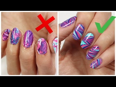 5 Things You're Doing WRONG When WATERMARBLING Your Nails!