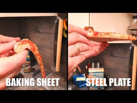 Comparison test: homemade pizza on stones, steel, baking sheet, parchment paper