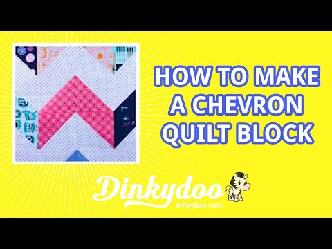 How to make a Chevron Block - Modern Quilting Tutorials - Dinkydoo