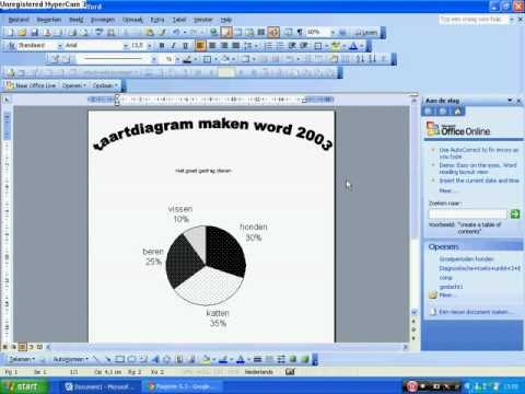 taartdiagram maken (word 2003)