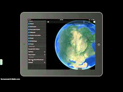 Google Earth Tours on the iPad