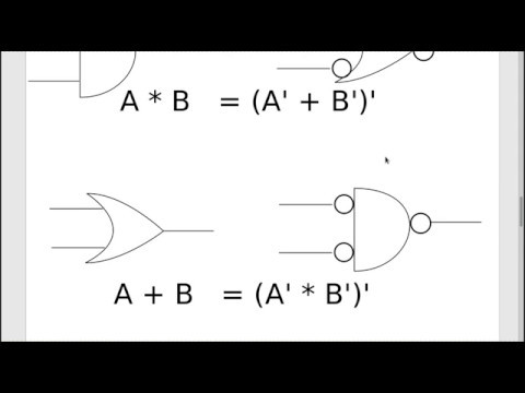 Change a Combinational Logic Circuit to Only NAND Gates or Only NOR Gates