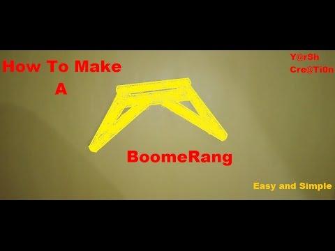 How to make a boomerang using Ice Cream Sticks .