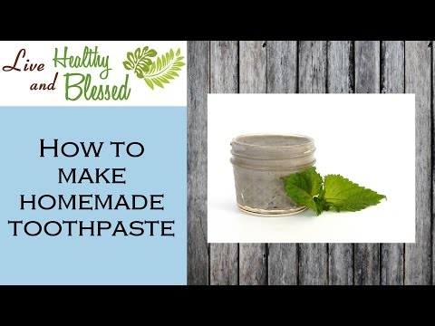 How to Make Toothpaste With Bentonite Clay - 2 Ingredient Recipe