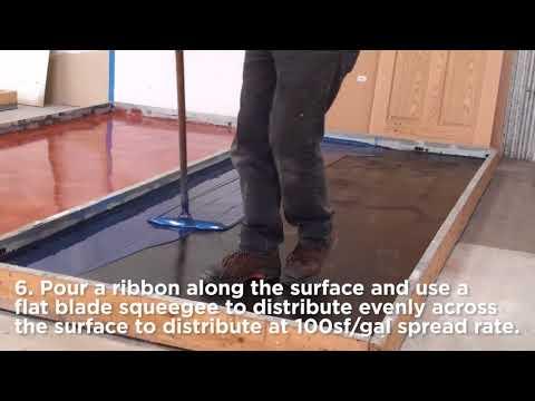 Rust-Oleum Industrial- Flooring Application- Metallic System