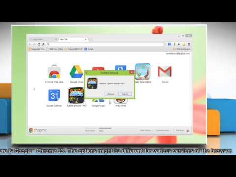 Uninstall apps in Google™ Chrome browser on Windows® 8