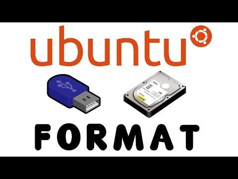 How to step by step format a usb or HDD in Ubuntu.