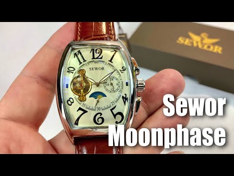 Automatic Mechanical Wrist Watch C1024 with White Dial by Sewor review and giveaway