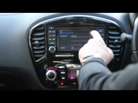 How to set the sat nav in a Nissan Juke
