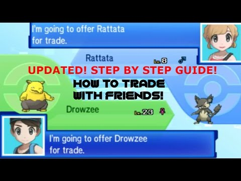 Step By Step Guide How To Trade With Friends In Pokemon Sun and Moon Tutorial