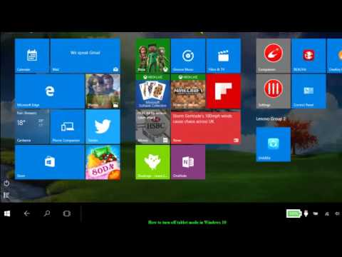 How to turn off tablet mode in Windows 10