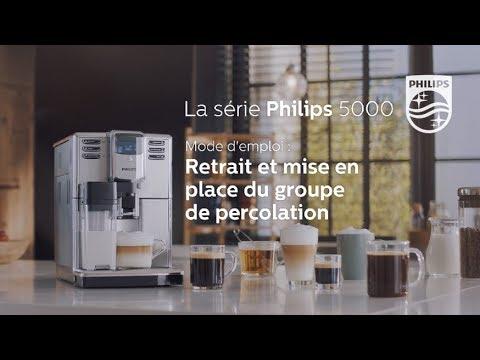 Philips EP5365 machine à espresso Série 5000 Comment utiliser le groupe de percolation