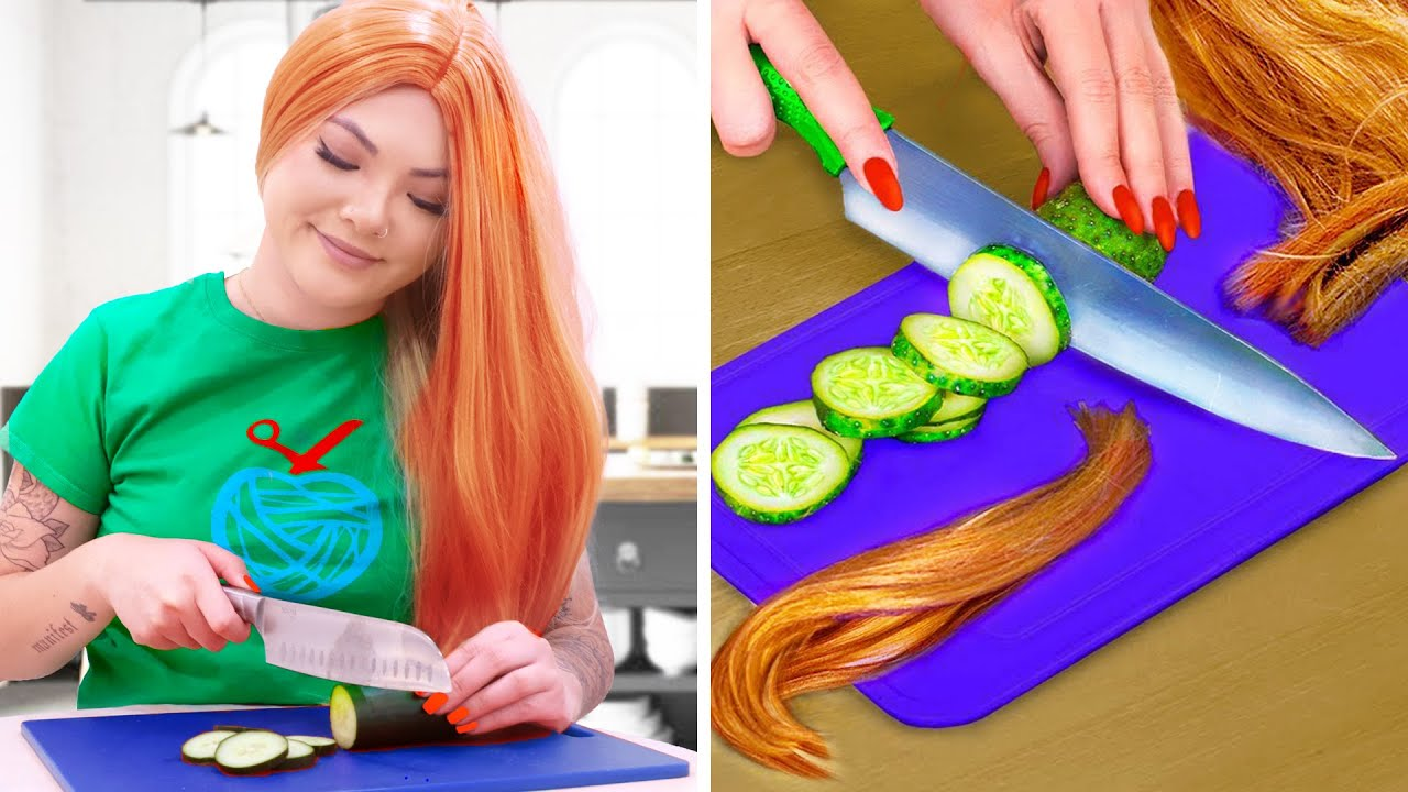 CRAZY GIRLS PROBLEMS WITH SHORT HAIR & LONG HAIR   FUNNY CHALLENGES & SITUATIONS BY CRAFTY HACKS