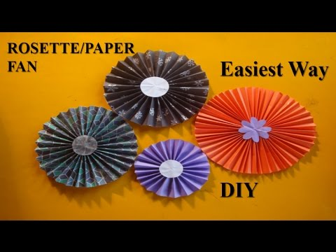 DIY: Easiest Way to Make Paper Rosettes || Creative World