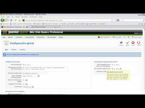 Definiendo  Url amigables en Joomla 1.5 para mejorar el SEO www.disenowebjoomla.com [HD]