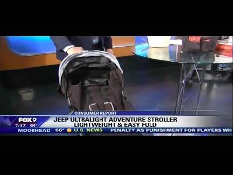 J is for Jeep Ultralight Adventure Stroller Recommended by Fox 9 in Minneapolis