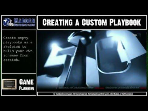 Creating Custom Playbooks in Madden 16 - Part 1