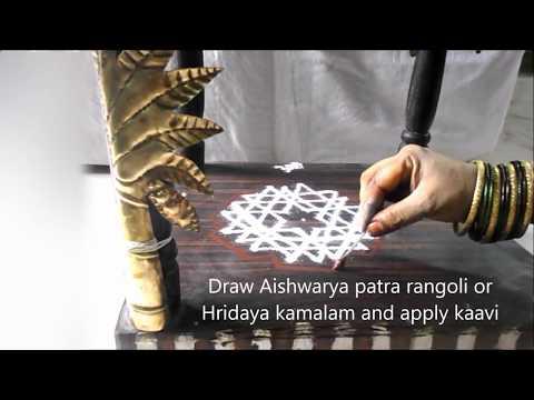 Varalakshmi Vratham Pooja Vidhanam Decoration   Mandapam alankaram   Lakshmi  Mangala arati   Telugu