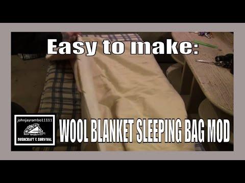 Wool Blanket Sleeping Bag Mod