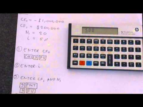 HP-12C: Net Present Value for Even and Uneven Cash Flows