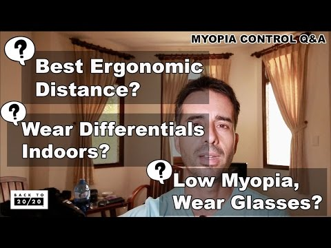 Jake Steiner: Q&A - Ergonomically Comfortable Close-Up, Differentials Indoors, Low Myopia