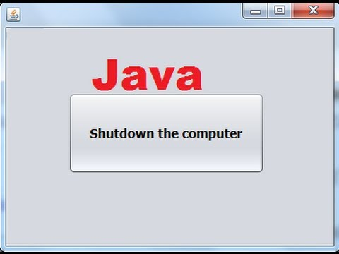 Java prog#150. How to shutdown the computer from Java