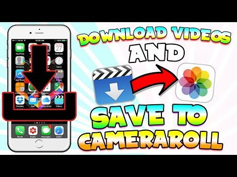 Transfer Your Videos From Application Too Your Camera Roll Free (2017) (NO JAILBREAK) ( NO COMPUTER)