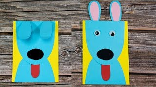 CUTE PAPER PUPPY EARS CARD | Easy Craft for Kids | Activities for Kids