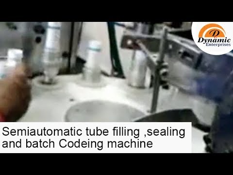 Semi Automatic Tube filling ,sealing and batch Codeing machine for any tube
