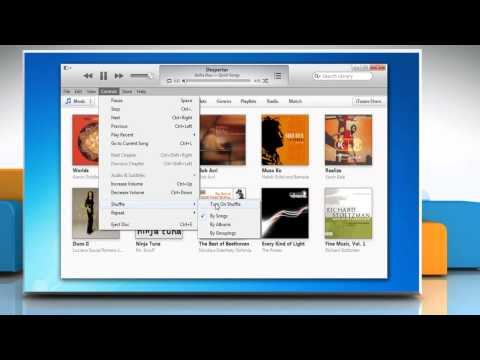 How to Turn On Shuffle in iTunes® in Windows® 7