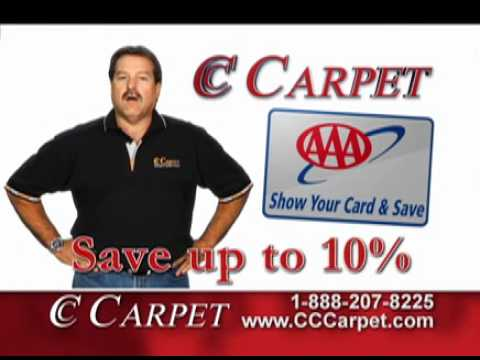 Show your AAA card and save at CC Carpet