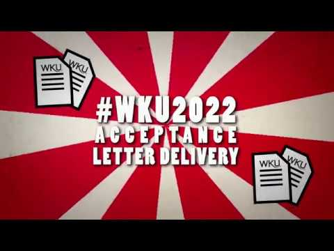 #WKU2022 Acceptance Letter Delivery