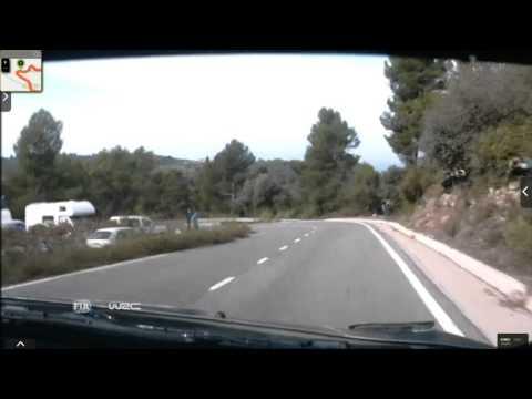 Onboard Kubica rally Catalunya-costa Daurada ss21 2015