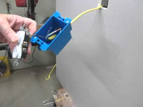 How install an electric outlet in an existing wall