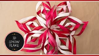 ❆ How To Make 3D Paper Snowflake Decorations Out Of Paper | DIY Tutorial ❆ Briunet ♥