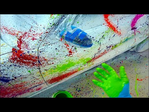 Splatter Paint Art Car with Plasti Dip