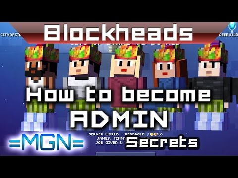 Blockheads - How to become an admin on servers!
