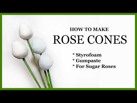 Sugar Rose Cones Tutorial: DIY Styrofoam and Gumpaste
