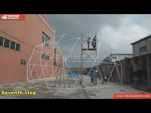 Geodesic dome tent Installation Video by Fastup Tent factory in China