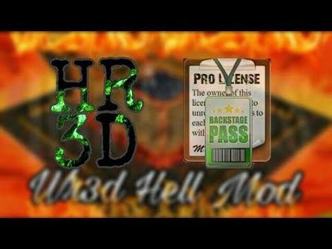Wr3d hell mod part 2 || with backstage pass and pro license