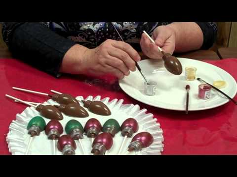 How To Make Christmas Light Bulb Chocolate Lollipops