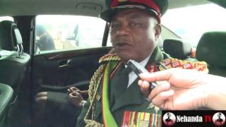 General Chiwenga speaks on Mugabe succession inside his car