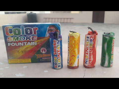 FIRECRACKER : Color smoke fountain    Indian firecracker    amazing by ishab jain