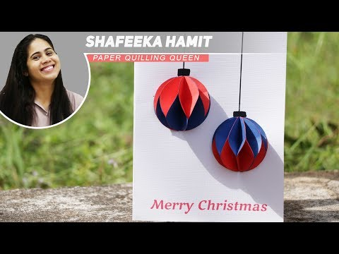 How to Make - Christmas Card Bauble - Step by Step DIY